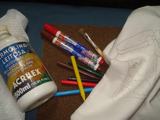 Muito Dicas de Sabrina Stocker: Pintura em tecido com giz de cêra RB11