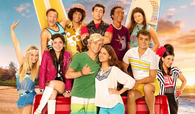 """Otra imagen de los protagonistas de la película """"Teen Beach 2"""" que es la segunda parte de """"Teen Beach Movie""""."""