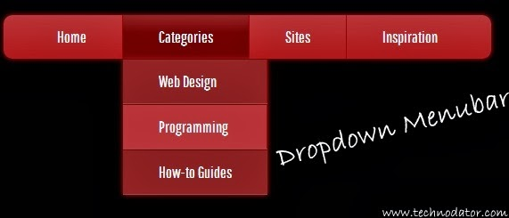 dropdown menu using css
