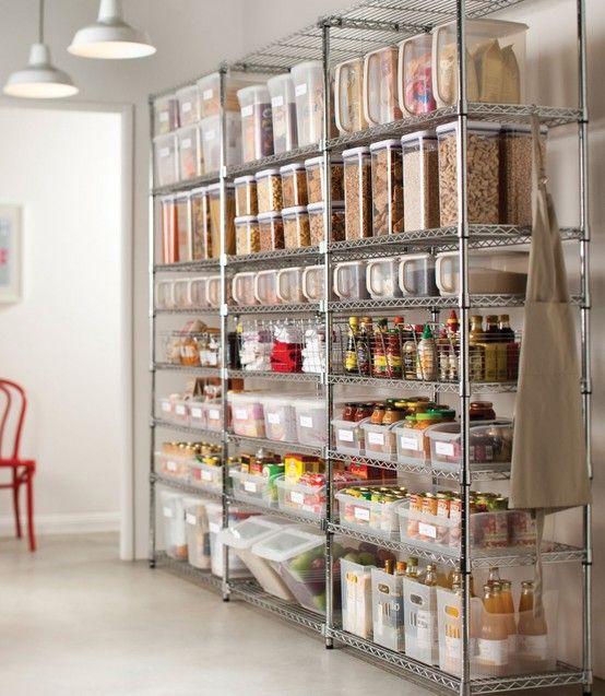 Inspiración: estanterías de metal - Blanco y de madera
