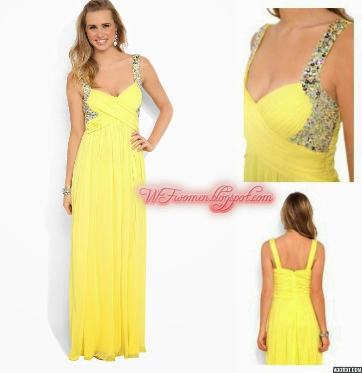 Latest Party Wear Prom Dresses For Girls From Summer 2014 Trend