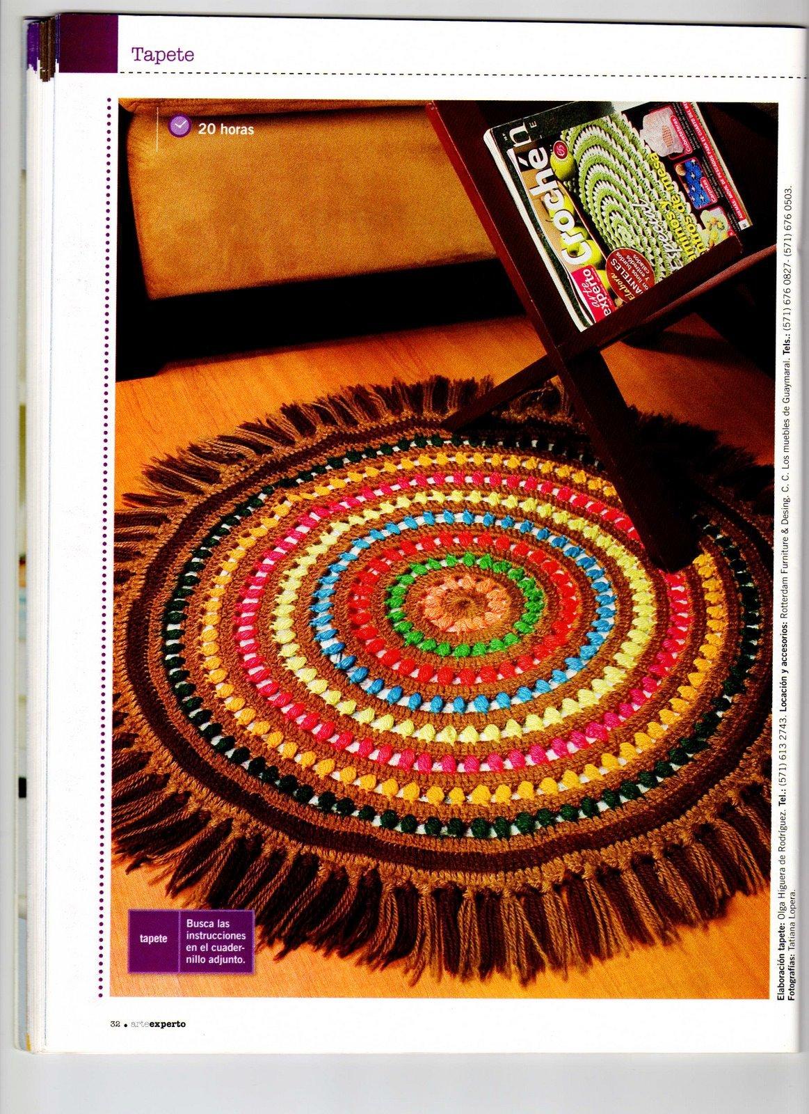 fragmentextos tapete circular com franjas em croch tipo. Black Bedroom Furniture Sets. Home Design Ideas