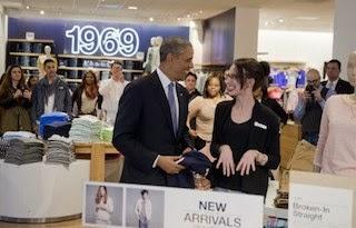 obama shopping gap store