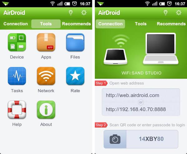 الحصول على التنبيهات الواردة من الموبايل على الحاسب واستعراض محتويات هاتف أندرويد