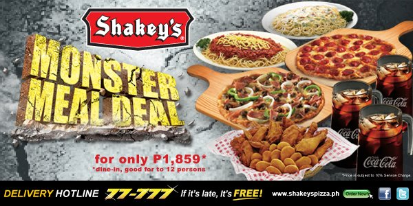 SHAKEY'S MONSTER DRAW: A MEAL FOR 12 WINS FOR 12