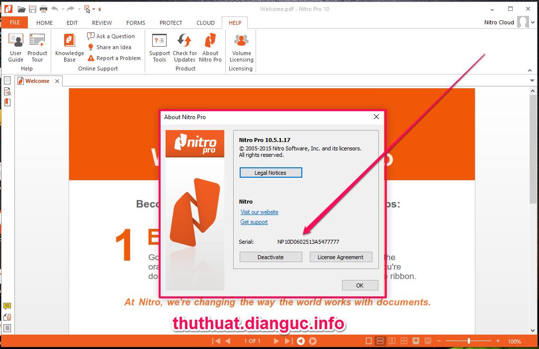 Download Nitro Pro 10.5.1.17 full key - Phần mềm chỉnh sửa file pdf