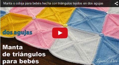 Clase en video de tejido dos agujas mantilla de bebe