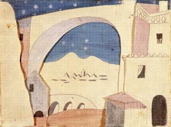 """Escenografía """"Sombrero de Tres Picos"""" Picasso"""