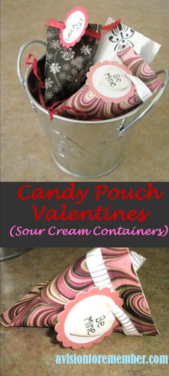 Sour Cream Container Valentines