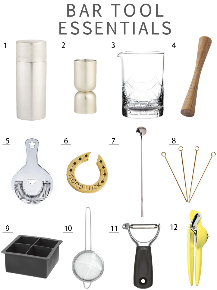 home bar tool essentials