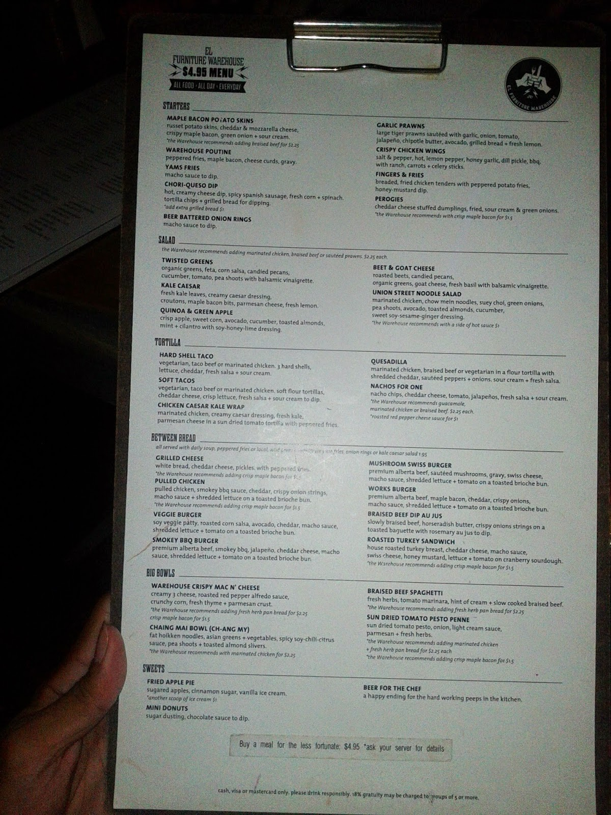 Travel toronto now el furniture warehouse menu best for El furniture warehouse toronto menu
