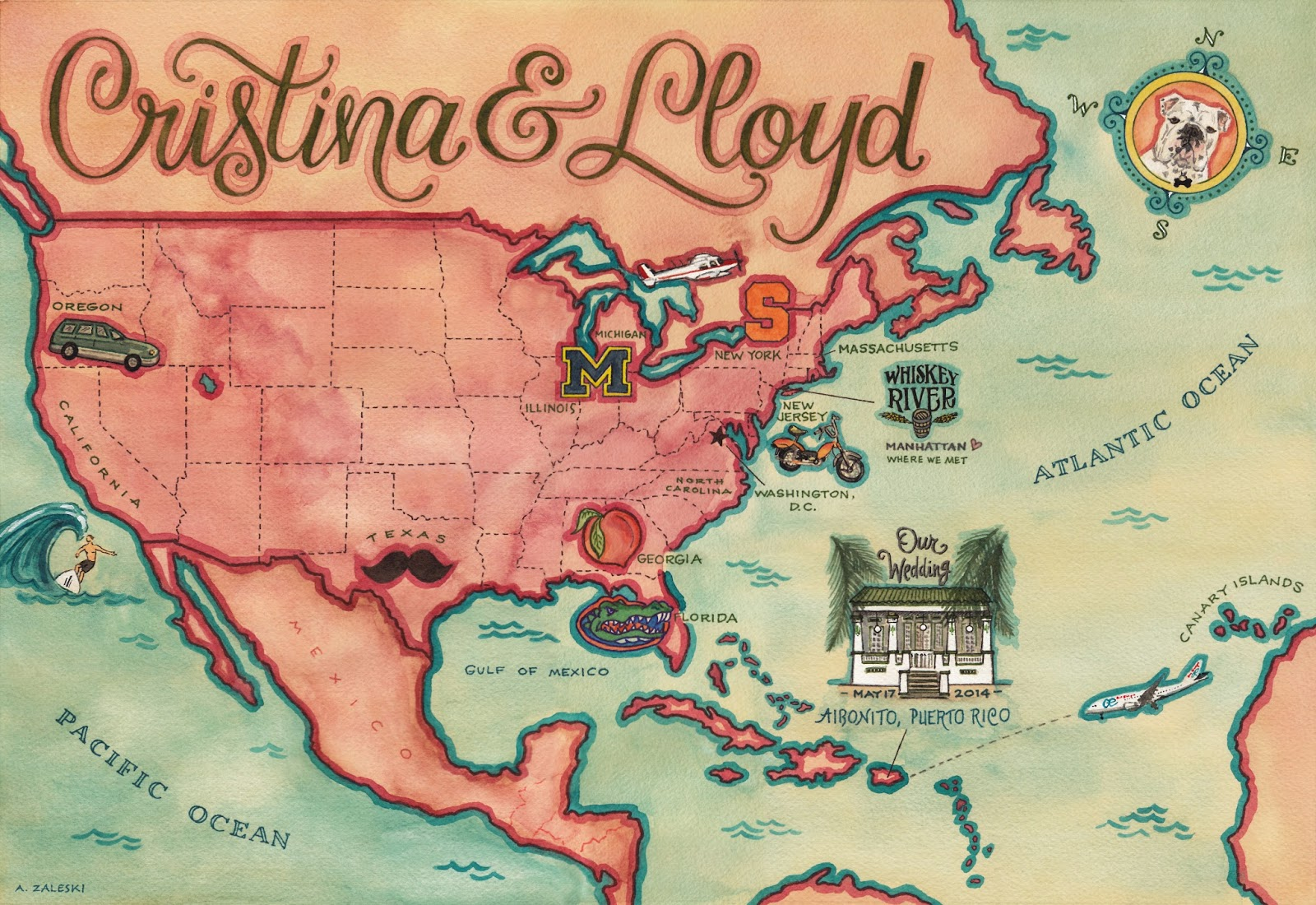 cristina lloyd s puerto rico wedding map