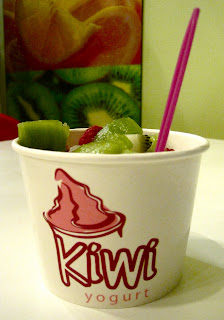 kiwi and frozen yogurt