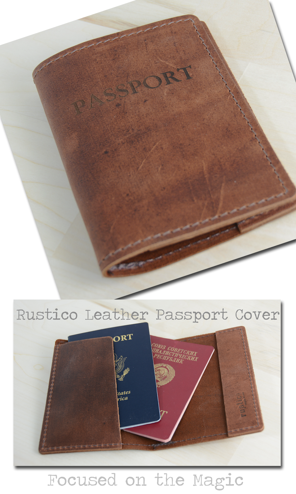 The Rustico leather Passport Cover
