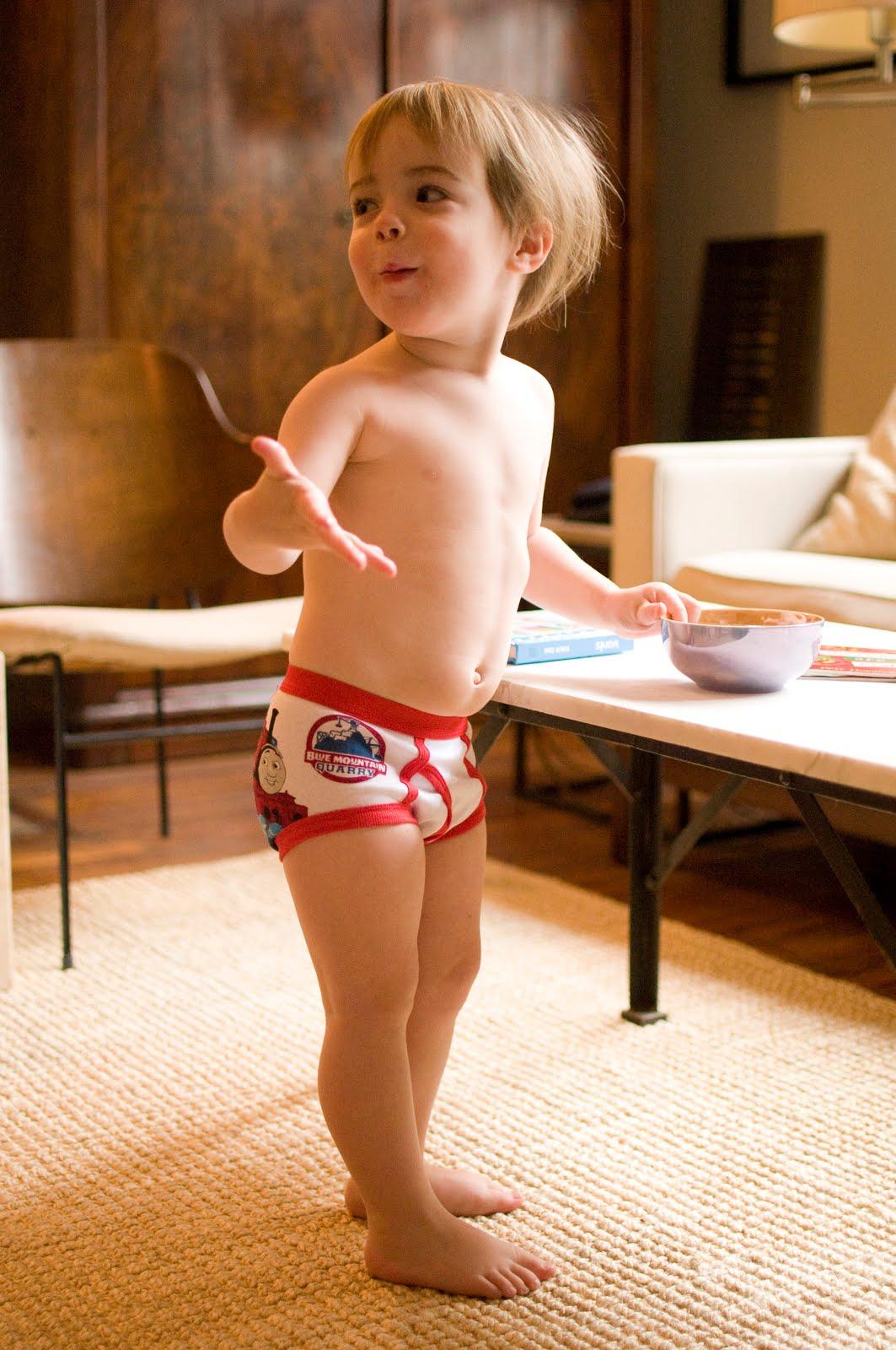 little boy underwear down