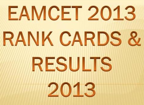 EAMCET Rank Card 2013, AP EAMCET Results 2013