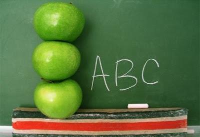 renovarse,cambio,aprender,aprendizaje,manzanas verdes, pizarra escrita