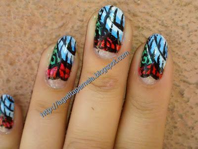 tattoo inspired nail design
