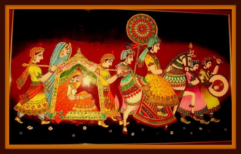 Indian Wedding Paintin...