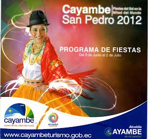 Las Fiestas de San Pedro de Cayambe 2012 , del 3 de Junio al 2 de Julio del 2012
