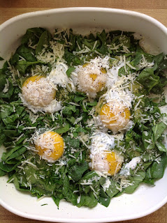 spinach and eggs