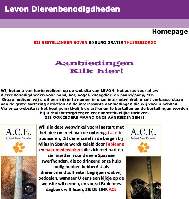 Levon webwinkel is een sponsor van Ace/Shin