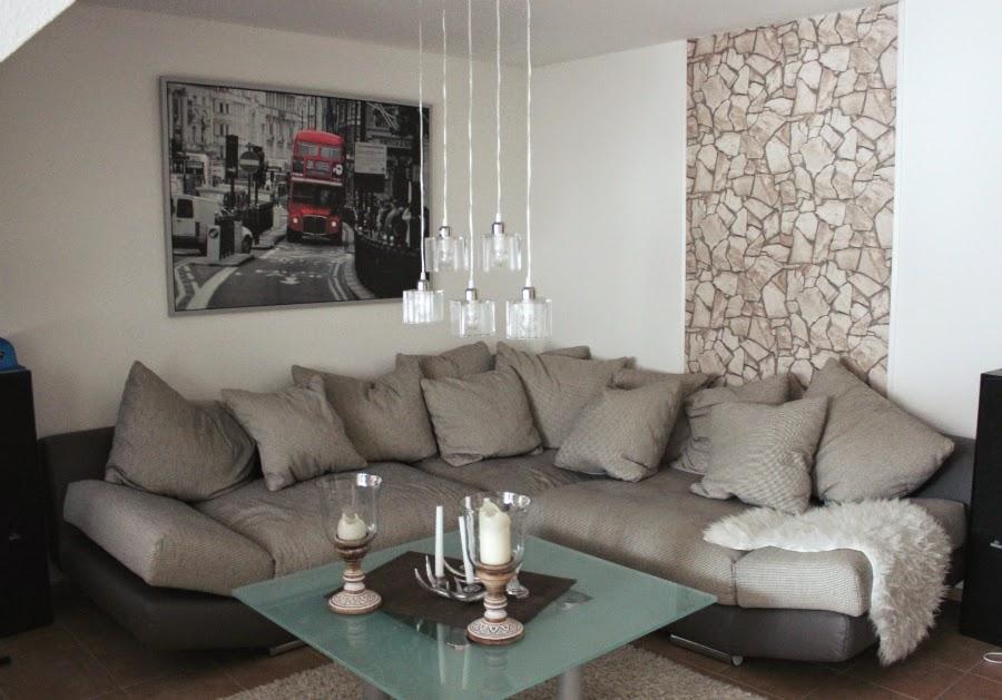 Wohnzimmer Mit Steintapete - Wohndesign
