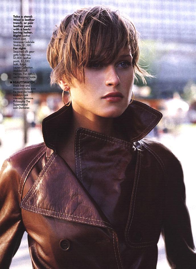 Natalia Semanova in Elle US September 2000 (photography: Andre Carrara)