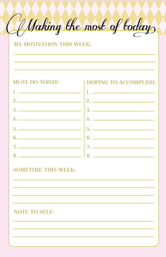 Clean image intended for cute printable to do list