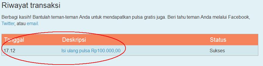 Putupunyablog Mendapatkan Pulsa 100k Gratis Dari mCent