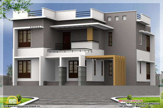 2585 square feet modern house elevation