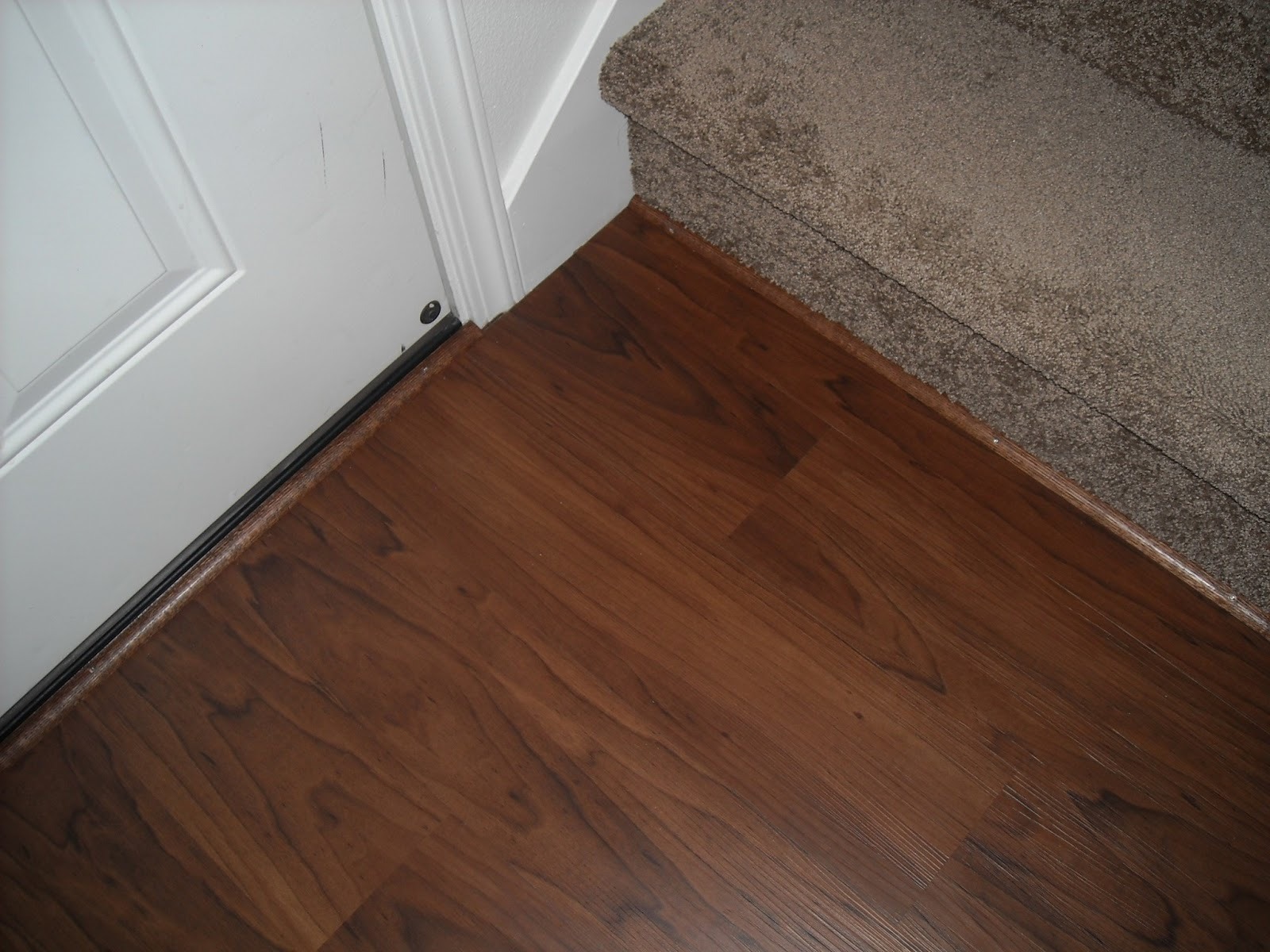 Lds mom to many allure trafficmaster floor transition for Allure flooring