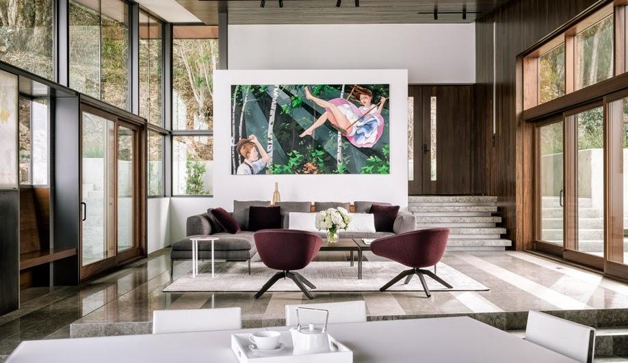 Gemütliche Einrichtung im modernen Design - Haus am Abgrund