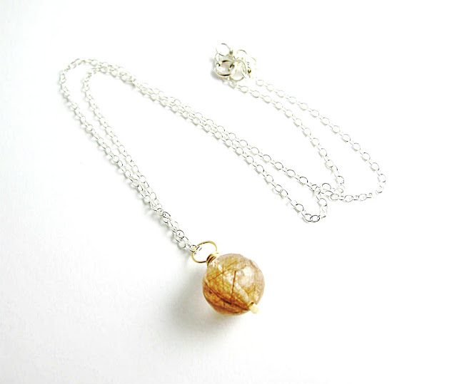 Illumination Rutilated Quartz Necklace by Beth Hemmila of Hint Jewelry