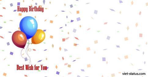 Status chúc mừng sinh nhật - mẫu 1