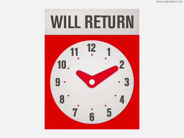 Will Return Sign PSD