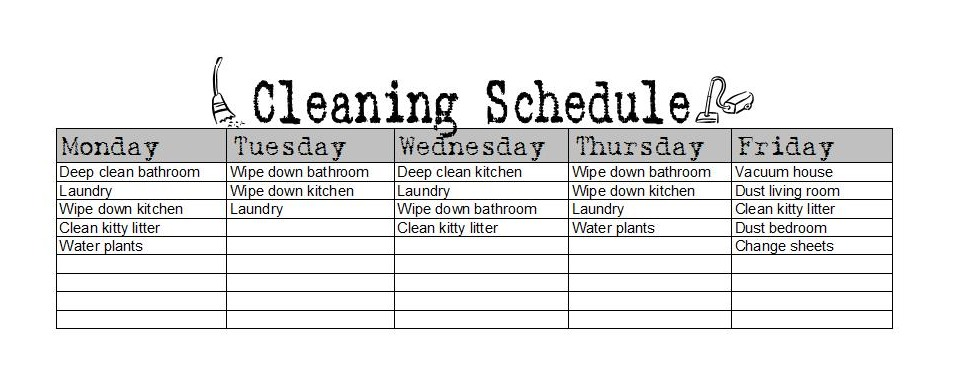 Chore Charts For Grownups