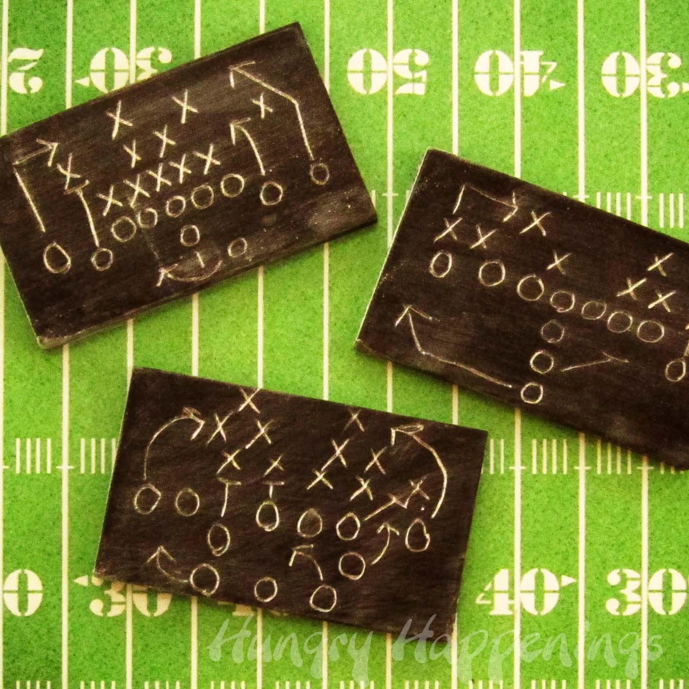 Super Bowl Edible Chalkboards C Party Favors C Chocolate C Diagram C Football Plays Diagram on Football Plays Diagrams