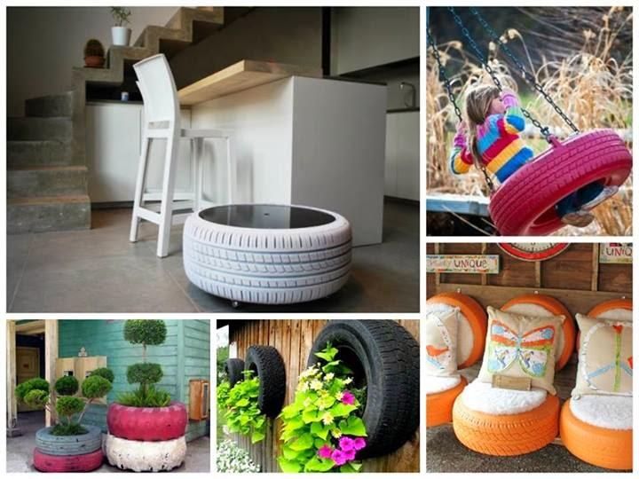 idee riciclo creativo con pneumatici