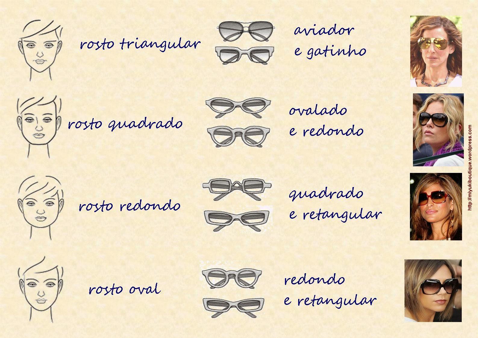 Como usar óculos de sol para cada tipo de rosto