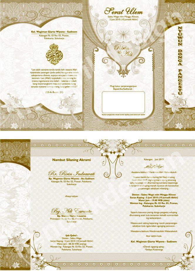 undangan pernikahan ini kami namakan und ekonomis 13 desain undangan ...