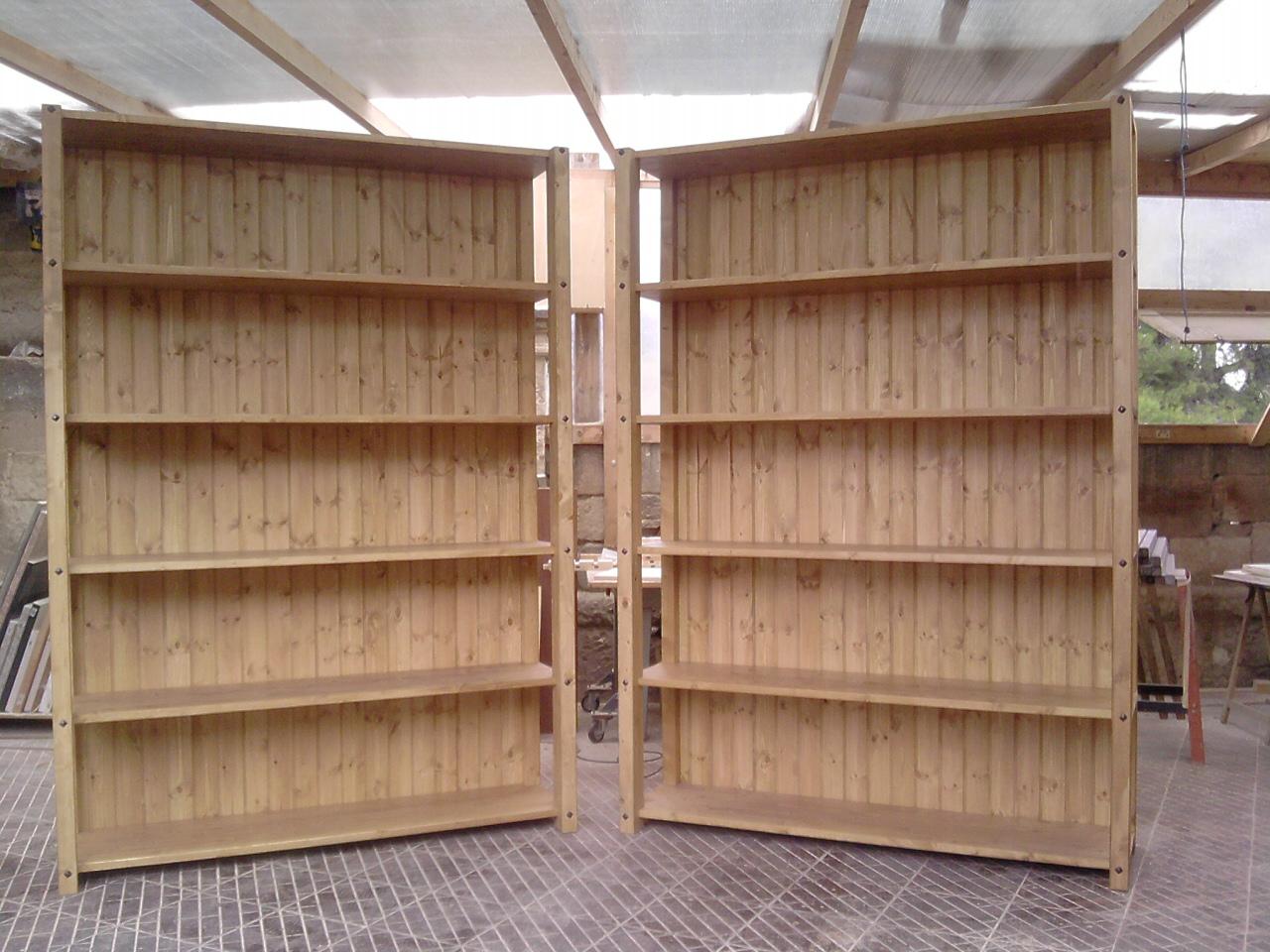 Relativamente scaffali fai da te cq28 pineglen for Scaffali libreria in legno