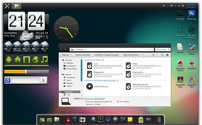 Android Jelly Bean Skin Pack For Windows 7