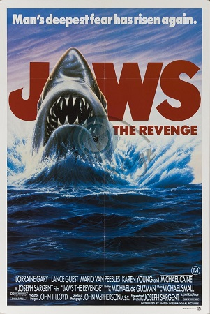 Poster Of Jaws The Revenge 1987 Dual Audio 720p HDTV [Hindi-English] Free Download Watch Online