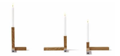 svećnjak minimalističkog dizajna