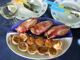 Calamari ripieni, ricetta sarda