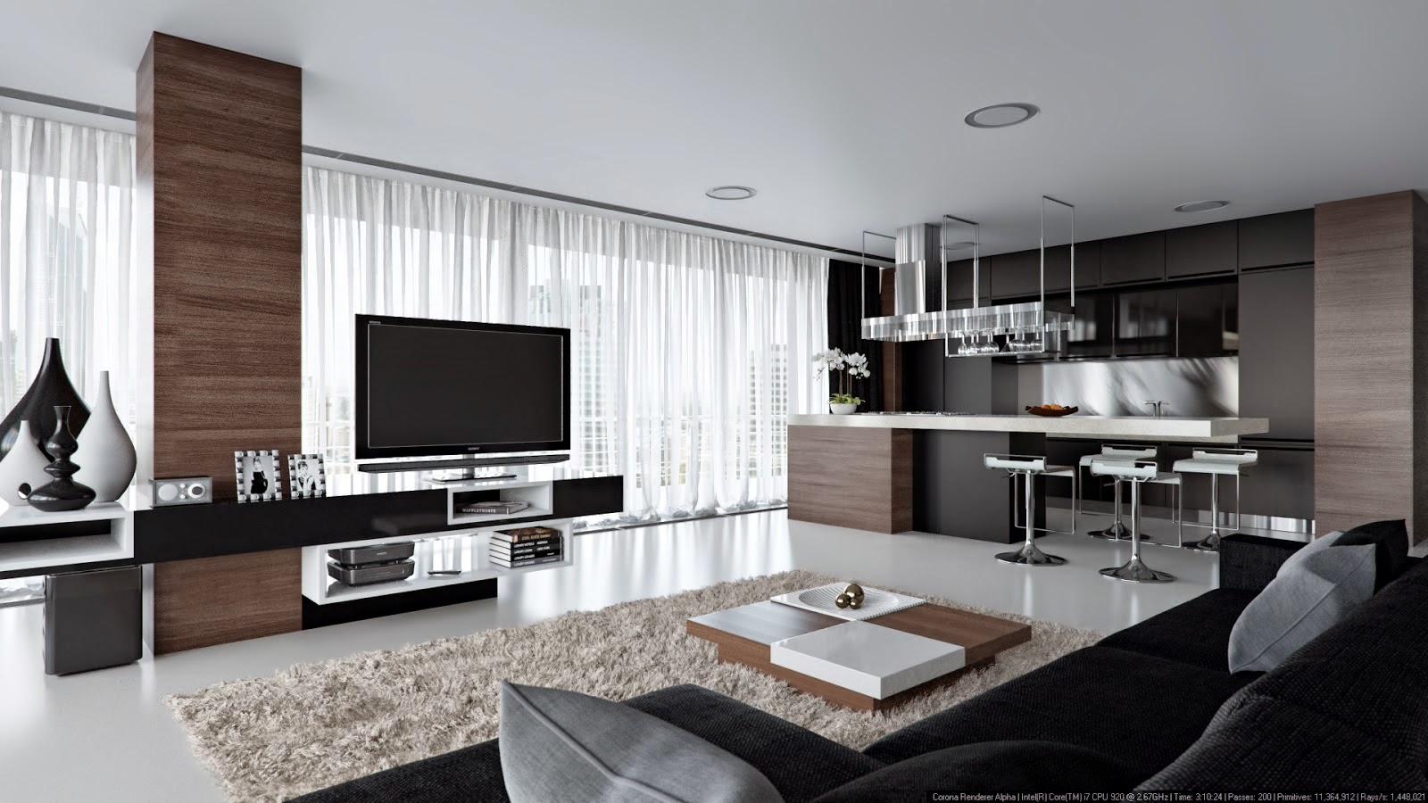 Interior Renderings With Corona Render Inspirations Area