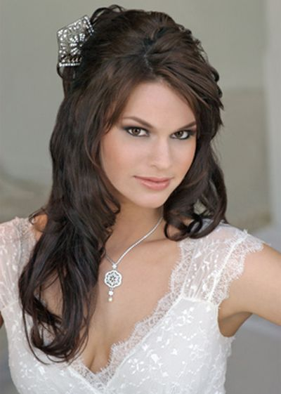 Among the wedding hairstyles there are indeed many good tips with down