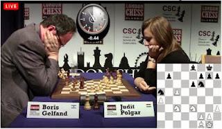 Echecs : Judit Polgar annule face à Boris Gelfand lors de la 2e journée du Chess Sixteen de Londres © Chess & Strategy