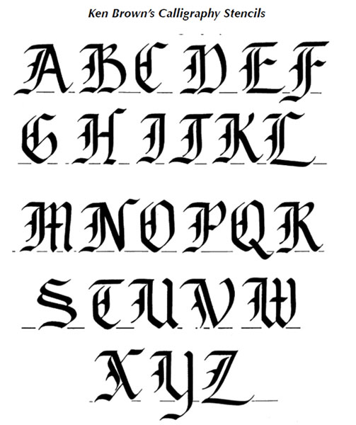 Calligraphy Alphabet Old English Calligraphy Alphabet